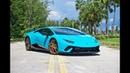 Lamborghini Huracan Performante With Narvi Forged Wheels Interior Sound Drive at Lamborghini Miami