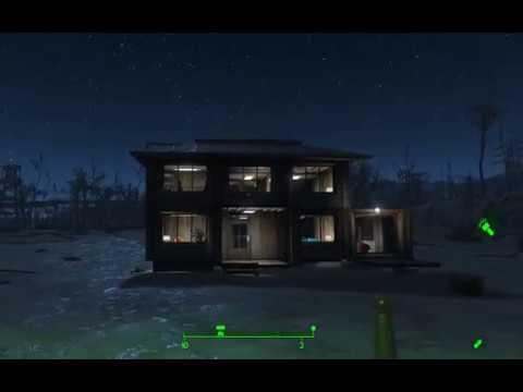 Fallout 4 № 1 дом 9х9 двухэтажный с гаражом
