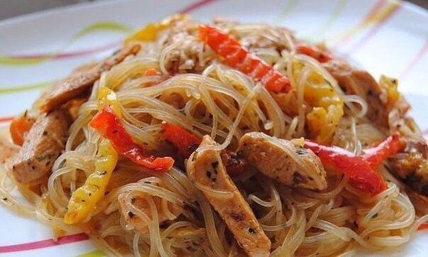 Pисовая лапша: ТОП-5 pецептов приготовления самых вкуcных блюд