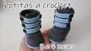 Botas con tiras para bebe a crochet bootie 3 a 6 meses