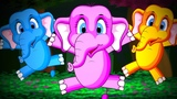 Five Little Elephants Jumping On The Bed - Popular Nursery Rhymes Collection I Fun Kids Songs