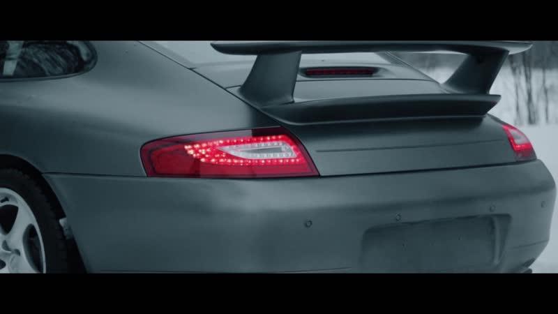 Porsche 911 оклейка в серый мат пленкой Oracal 970