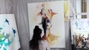 AURA - Abstract Portrait Oil Speed Painting