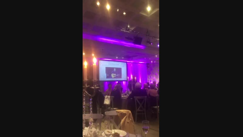 VIDEO A message sent by Niall to the Julian Benson C F Foundation Ball. The guitar he owned got auctioned off for 4,000 to aid C