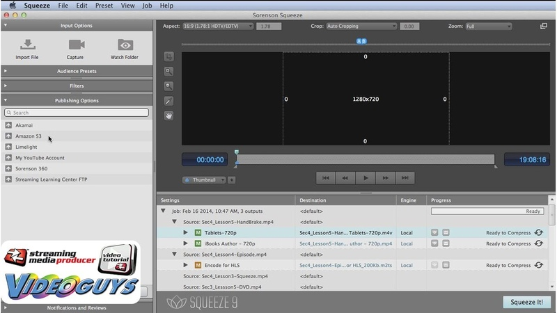 How to Use Sorenson Squeeze for Professional Video Encoding