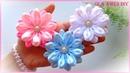 Цветы из атласной ленты Канзаши Ribbon Flower Tutorial Kanzashi Flowers Flores de fitas Ola ameS DIY