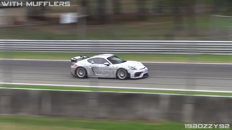 NEW Porsche 718 Cayman GT4 Clubsport Sound Comparison with_without Mufflers!