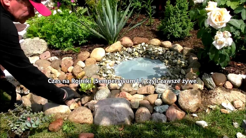 GARDEN (25) - Budujemy fajny ogród - Mini skalniak i oczko wodne - Poidełko dla ptaków