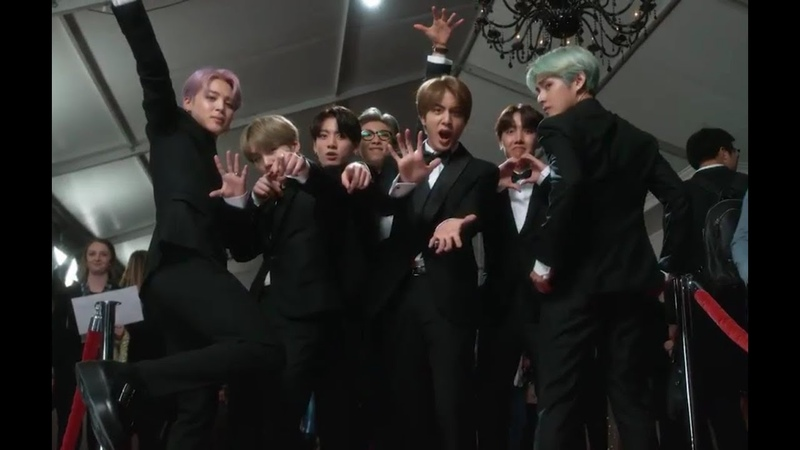 {PART 2} BTS Off Screen Footage on the Red Carpet at the 61st Grammy Awards 2019