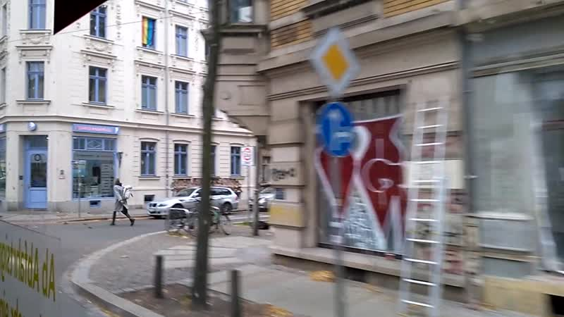 Чудеса видеосъемки или путешествие по Лейпцигу на трамвайчике.