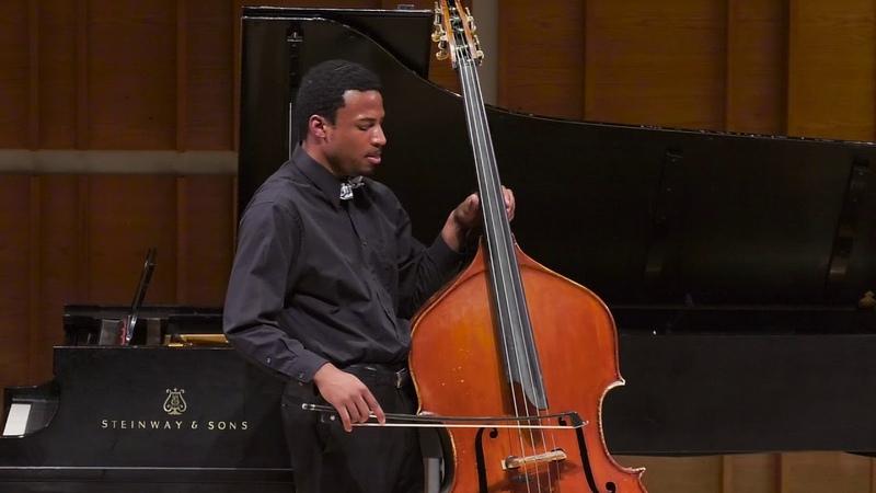 Xavier Foley, double bass | Bach: Cello Suite No. 1 in G Major, BWV 1007