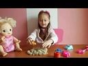 Мелисса и Baby Alive распаковывают кинетический песок / Лепят фигурки / ИГРАЮТ / Видео для детей