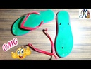 Waste material craft Idea Best out of waste DIY arts and crafts cool craft idea reuse slipper