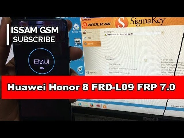 Huawei Honor 8 FRD-L09 Remove FRP Android 7 Nougat SIGMA box