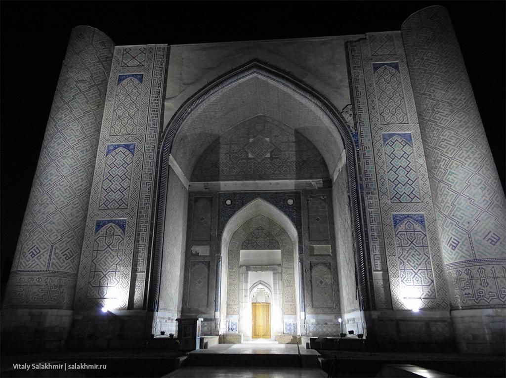 Мечеть Биби-Ханым, вечерняя подсветка, Самарканд 2019