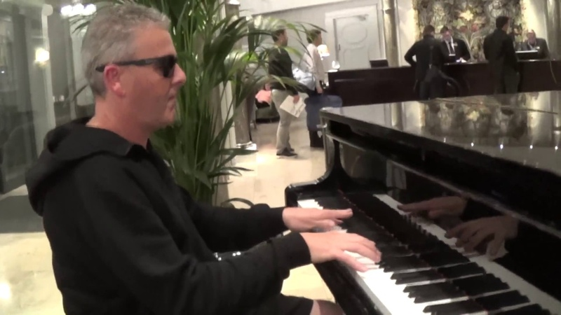Extreme Boogie Smokes Up The Hotel Lobby Piano