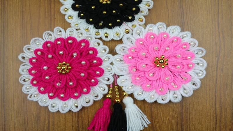 Waste Material Craft Ideas For Home Decor   Woolen Craft Idea - Best out of waste - DIY Crafts Ideas