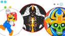 Mario \ Lava Man \ Skull Samurai VIP custom skin DRAW / AGARIO \ creating best the skin