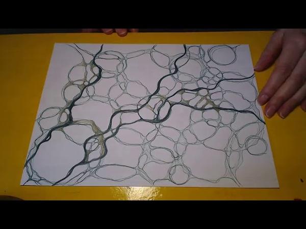 Нейрографика - цвет и его значение - объединяем пространства между собой