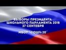 Выборы президента школьного парламента 2018.