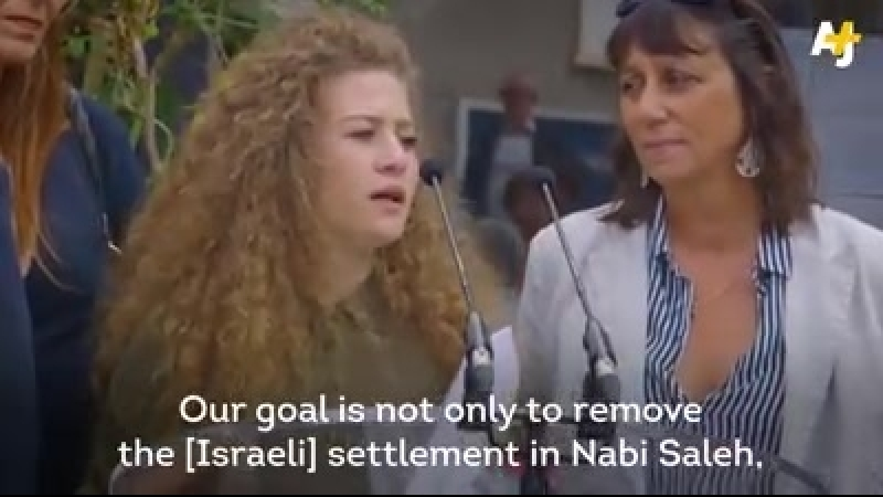 Quds News Sept 22 What's life like in Israeli jail Ahed Tamimi in France talking about harassment and life under occupation