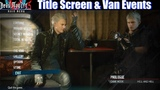 DMC 5 All Title Screen &amp Van Events (Vergil Dante Nero Trish Lady) - Devil May Cry 5 2019
