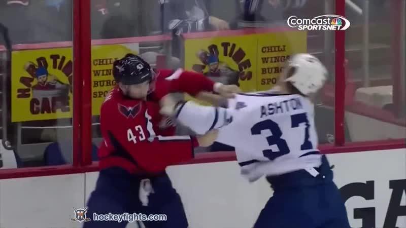 Carter Ashton vs Tom Wilson, Colton Orr vs John Erskine Jan 10, 2014