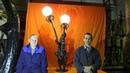 Lamp Dandelion Blacksmithing Handmade Metal work Metal sculpture Design