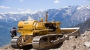 Extreme Dangerous Bulldozer Operator Skills Working on Mountain Largest Heavy Equipment Machines