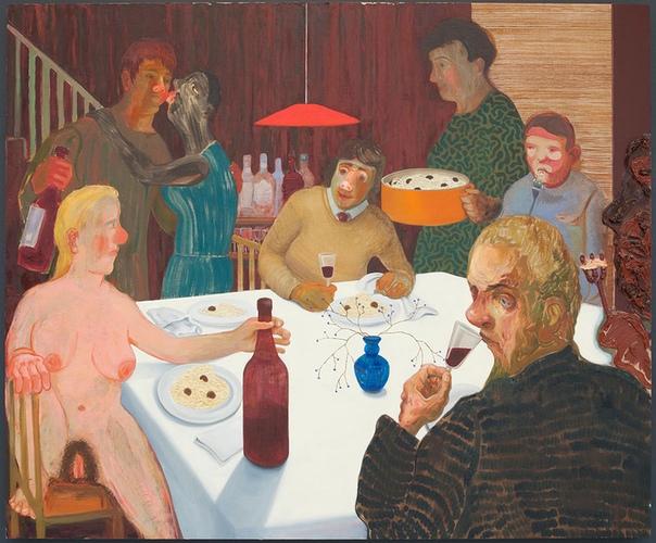 Nicole Eisenman Ужин в воскресенье вечером, 2009 масло на холсте (106,6 x 129,5 см)