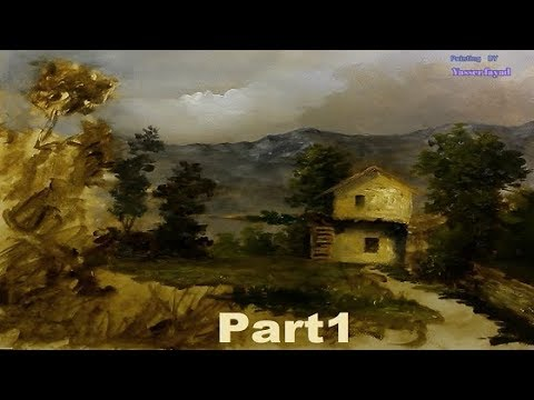 Oil Painting Farm House Landscape By Yasser Fayad part 1