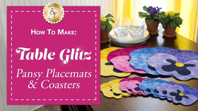 How to Make Pansy Placemats Coasters A Shabby Fabrics Sewing Tutorial