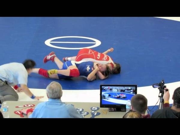 2012 Junior National Championships 59 kg Nicole Roach vs Linda Morais