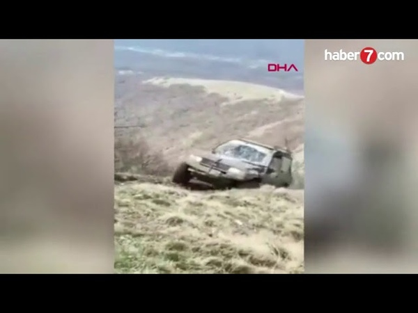 Arazi yarışında feci kaza kamerada haberler282