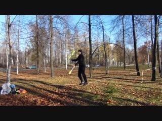 Жонглёры на канате в г-Петрозаводске 23 октября 2018
