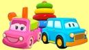 Carros inteligentes. Tartaruga de brinquedo. Animação infantil.