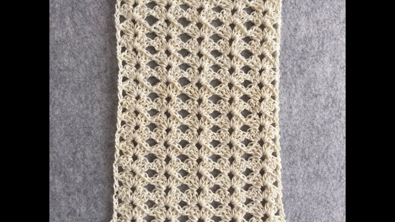 CROCHET Lace Shell Stitch 3 Tutorial   One Row Repeat