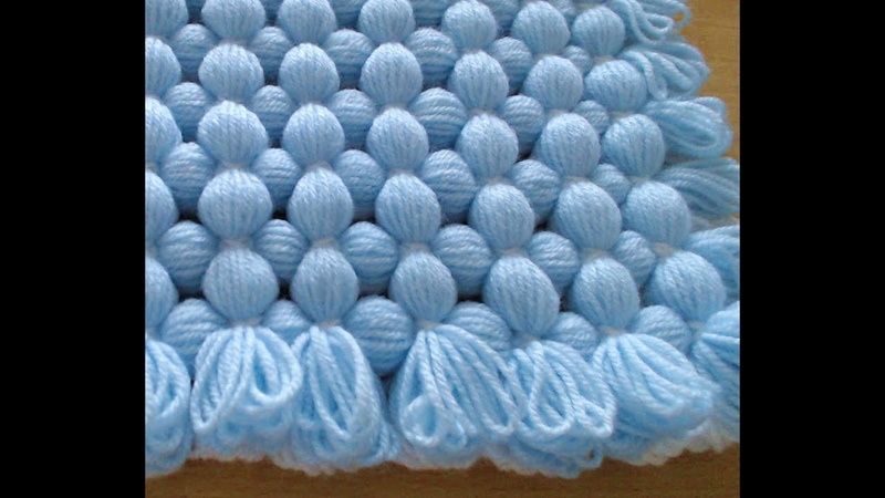 Pom pom blanket - MAKE A LOOP EDGE - peg to peg fast blanket.