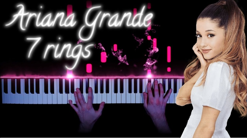 Ariana Grande - 7 rings - piano cover   tutorial how to play