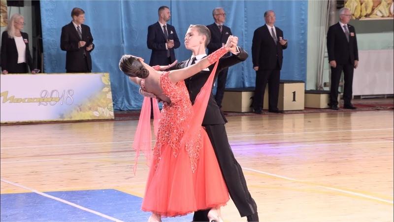 Копылов Сергей - Губкина Виктория, Viennese Waltz   Юниоры-2, Европейская программа