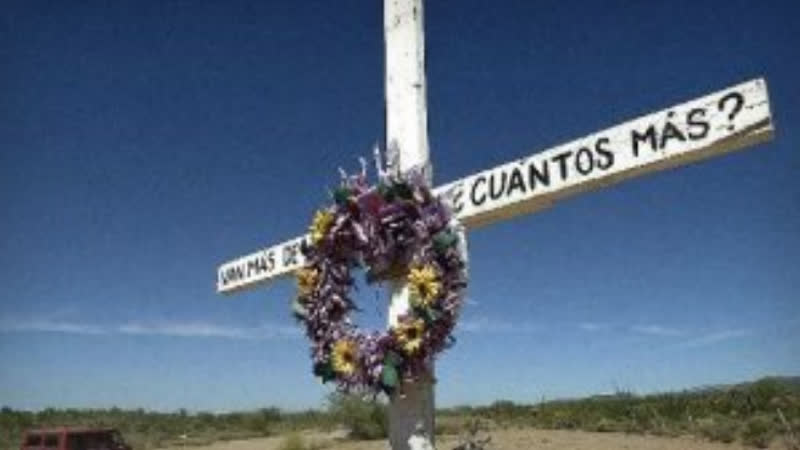 The remains of nearly 3 000 migrants have been found in this desert This man has made hundreds of crosses to honor them