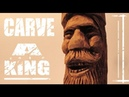 Carve a King in Wood (full wood carving spirit face)
