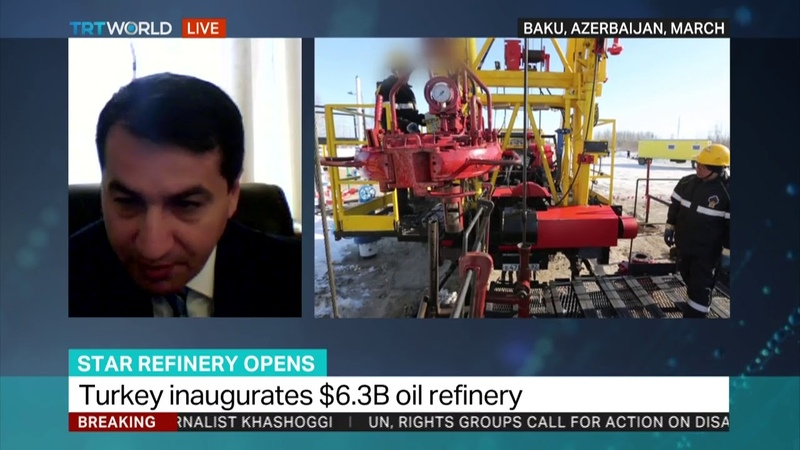 Opening of STAR refinery Hikmet Hajiyev joins the discussion