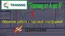 1) Transaq от А до Я - обучение работе с торговой платформой. Финам
