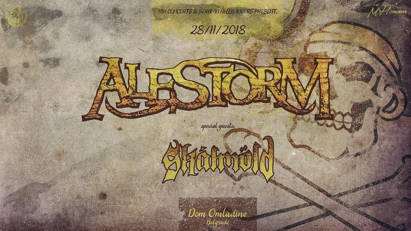 Alestorm Skálmöld Belgrade gig promo (28.11.2018)