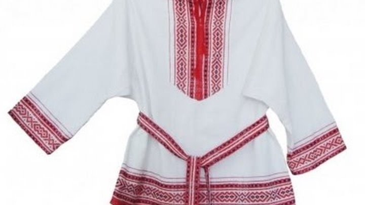 Крестьянский крой рубахи.