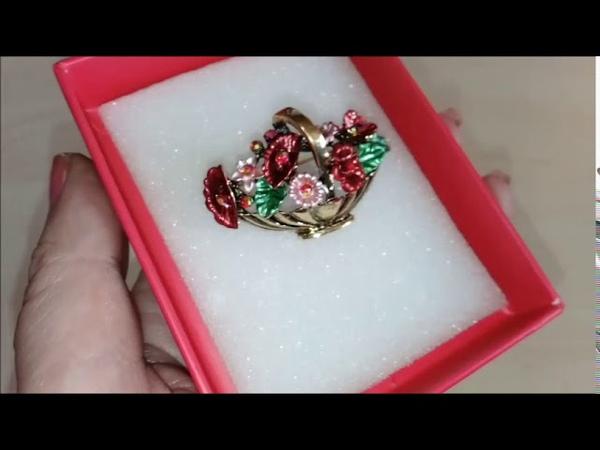 Бижутерия с Алиэкспресс БрошиСерьгиYunkingdomRINHOO Jewelry