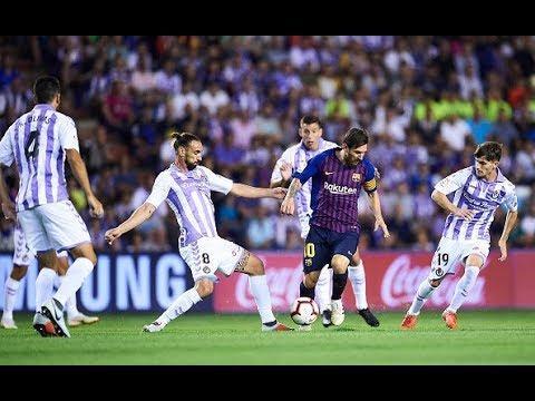 Барселона Вальядолид 1 0, гол и опасные моменты, 16 02 2019, чемпионат Испании, гол Месси