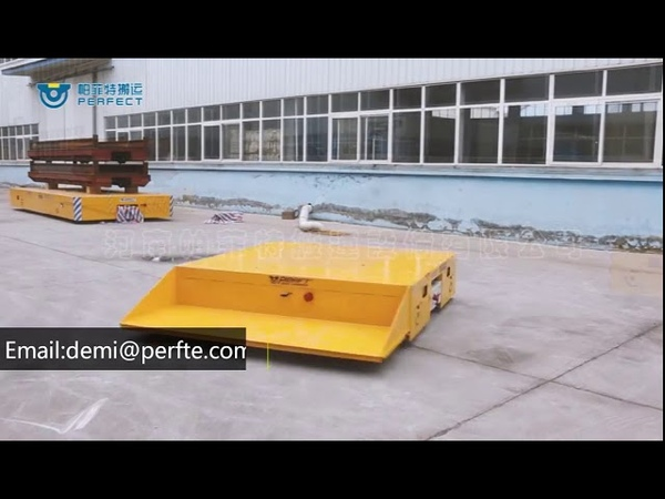 Workshop Heavy Duty Material Handling Carts Battery Powered Trackless Transfer Cart
