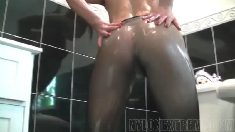 Masturbate in oiled pantyhose Teen, Porn, Solo, Masturbate, Petite, Pussy, Pantyhose, Nylon, Ass,